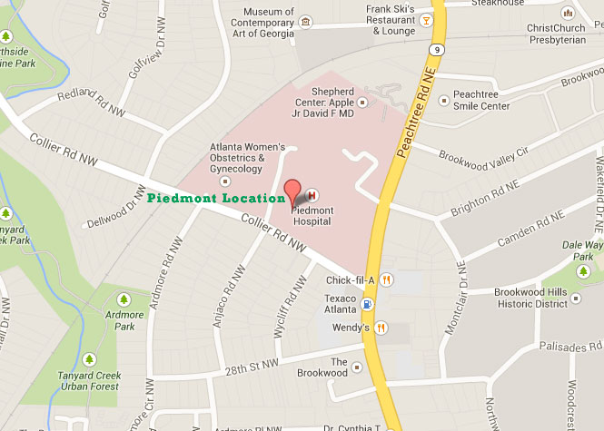 Directions Peachtree Orthopaedic Surgery Center At Piedmont
